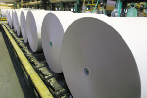 44029883 - paper and pulp mill plant - rolls of cardboard